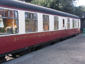 The buffet car in the sidings of the Poppy Line, Sheringham