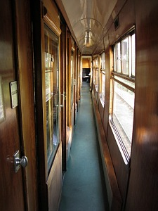 One of the many different carriages on the North Norfolk Railway