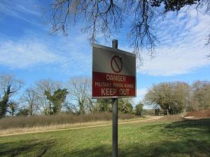 MOD warning signs along the Peddars Way