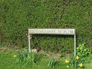 The obvious Peddars Way North Sign, heading towards the sea