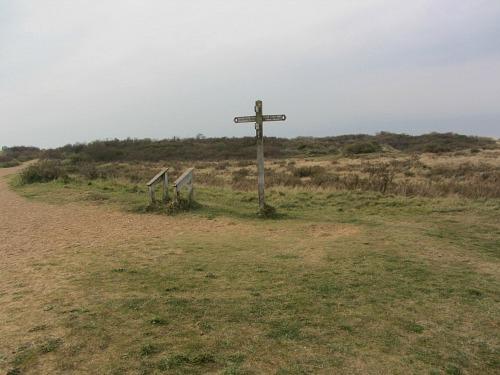 The final Peddars Way sign at Holme beach