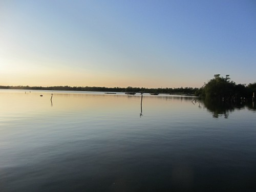 The evening sun setting on Ranworth Broad