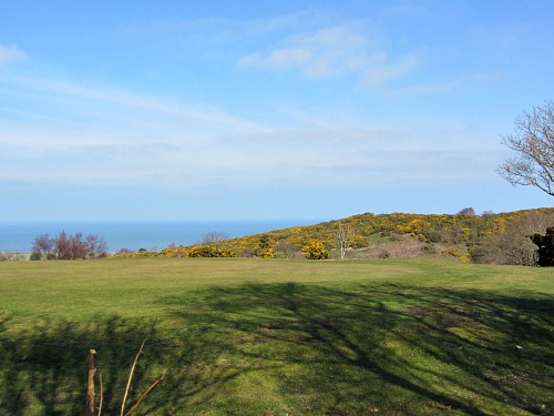 Views over the golf course to the sea