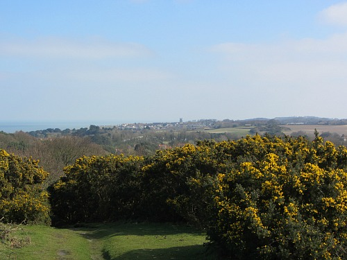 The view towards Cromer from Incleborough Hill