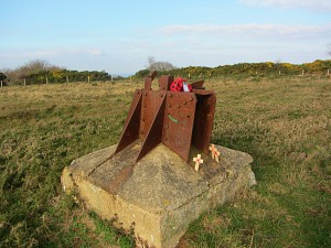 Remains of the WWII radar station at Bard Hill