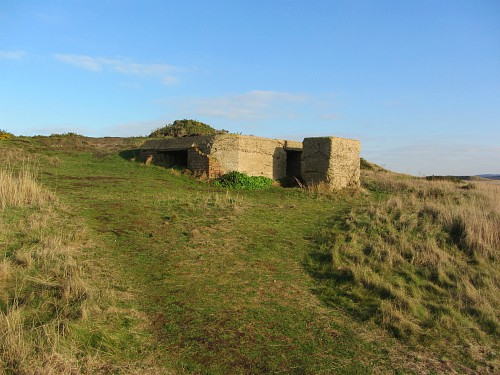 The pill box at Little Eye just before you head inland to Salthouse