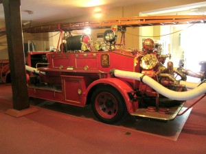 The fire engine in the Sandringham Museum