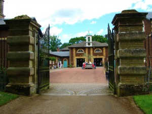 The entrance to the museum which used to be the old stables