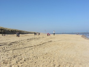 Beautiful soft sand at Sea Palling Beach
