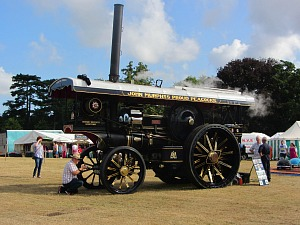 Steam engine at Sandringham Flower Show