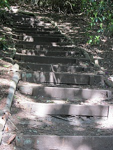 Steps to the gazebo at Sheringham Park