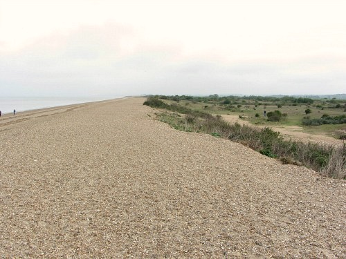 Snettisham beach divided in two.  Beach and Wildlife