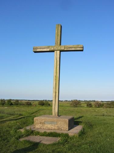 The oak cross at St Benet's Abbey, Norfolk Broads