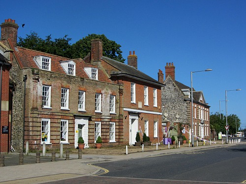 Georgian houses scattered around Swaffham