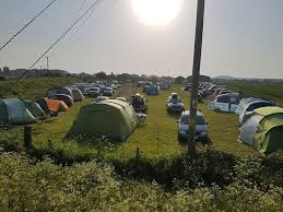 The camping field at Marshview Dairy