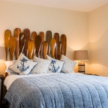 Unique bedrooms in The Boathouse, Ormesby Broad