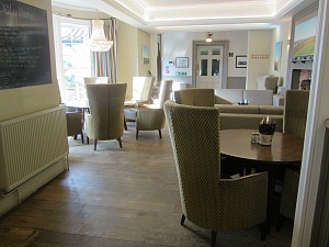 Casual dining at The Lodge, Old Hunstanton