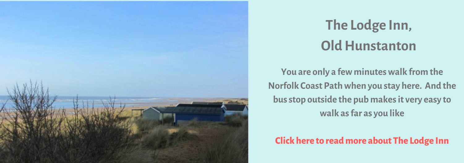 Walking the Norfolk Coast Path from The Lodge Inn at Old Hunstanton