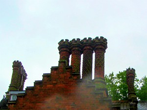 The magnificent tudor chimneys dotted around Norwich