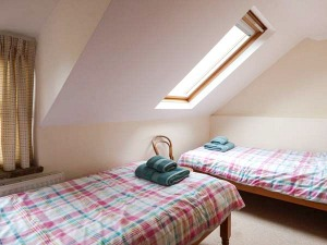 The twin room at Kingsley Cottage in the Norfolk Broads