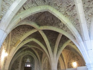 The roof of the crypt at Walsingham Abbey