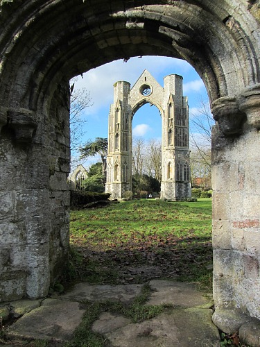 Walsingham Priory from the well