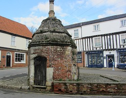 The 16th Century pumphouse in Walsingham