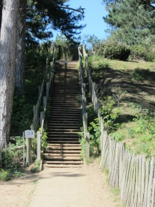 Steps up to Wells beach