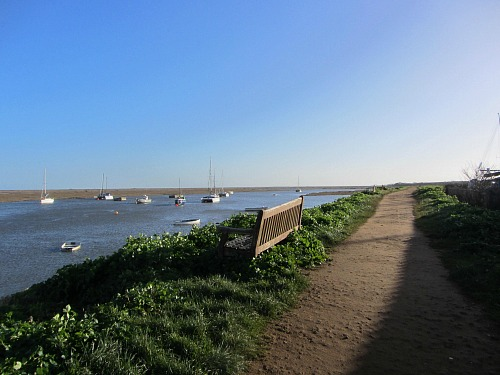 Norfolk Coast Path heading East towards Stiffkey