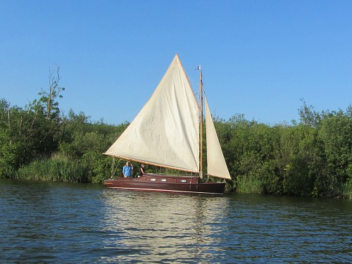 A modern Wherry boat