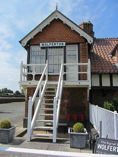 The Signal box at Wolferton Station