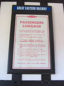 The Luggage Notice at the Royal Station