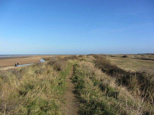 Norfolk Coast Path walk at Holme-next-the-Sea