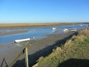 The creeks and salt marshes on the Norfolk Coast Path