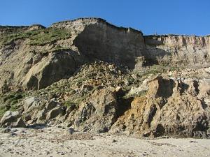 Cliff erosion at Mundesley