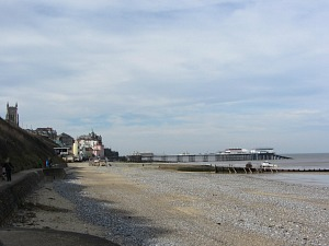 Cromer Pier and town