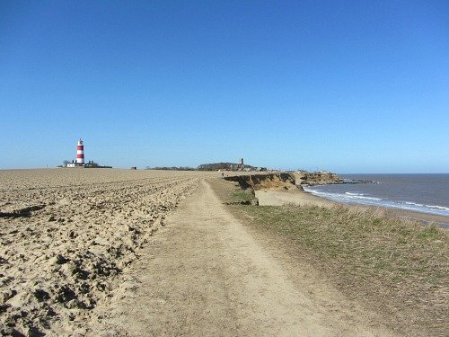 Happisburgh Lighthouse and the cliffs