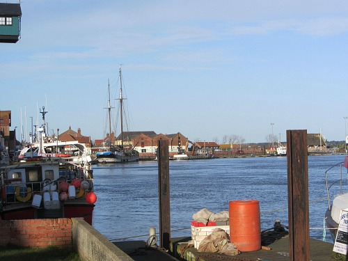 Wells harbour in glorious morning sunshine