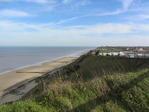 The cliffs at Mundesley