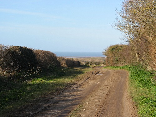 View of the sea heading towards Brancaster