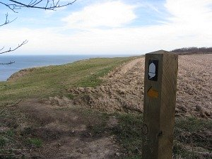 Signs on the cliff paths to keep you on track!