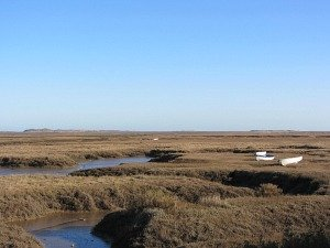 Salt marshes on the Norfolk Coast Path