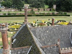 The Parterre from the roof of Oxburgh Hall