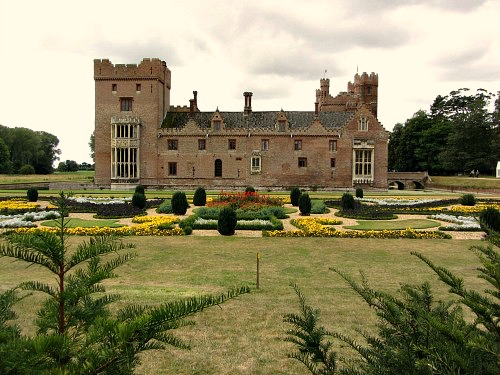 Oxburgh Hall with parterre