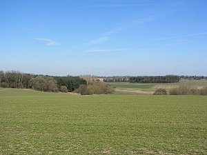 Open countryside views along the Peddars Way