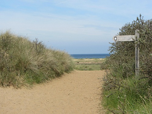 The end of the Peddars Way at Holme-next-the-Sea, North Norfolk