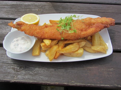 Delicious fish and chips along the Wherryman's Way!
