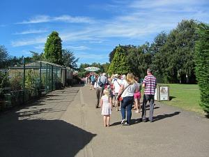 The entrance to Banham Zoo