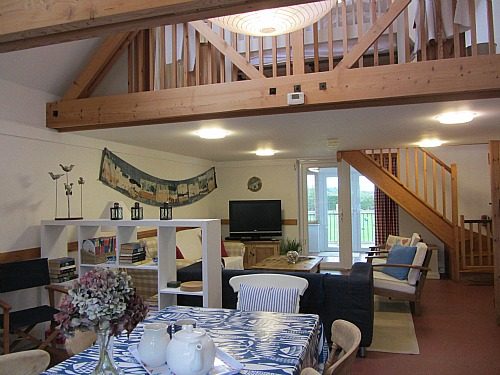 Great open plan living at Big Sky Cottages, near Horsey Beach