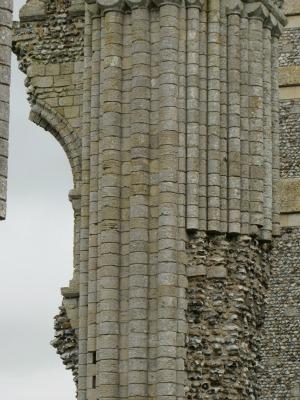 Binham Priory exterior columns